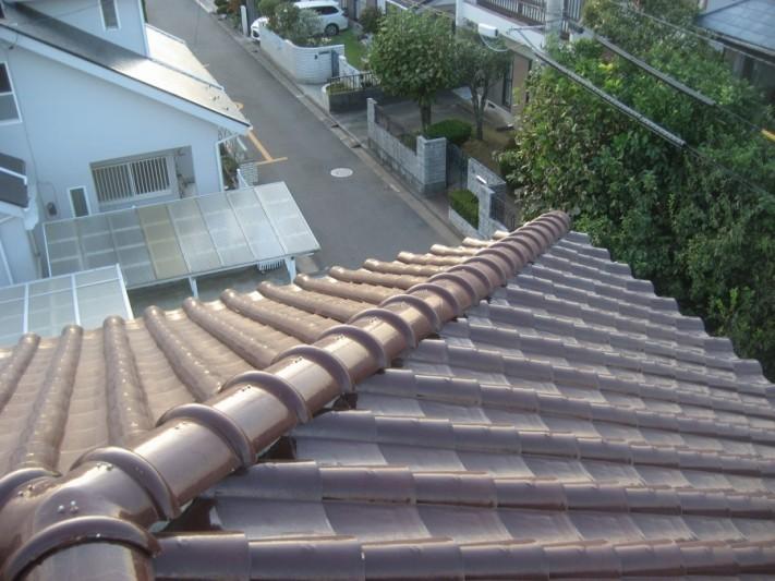 熊谷市で瓦屋根の現場調査