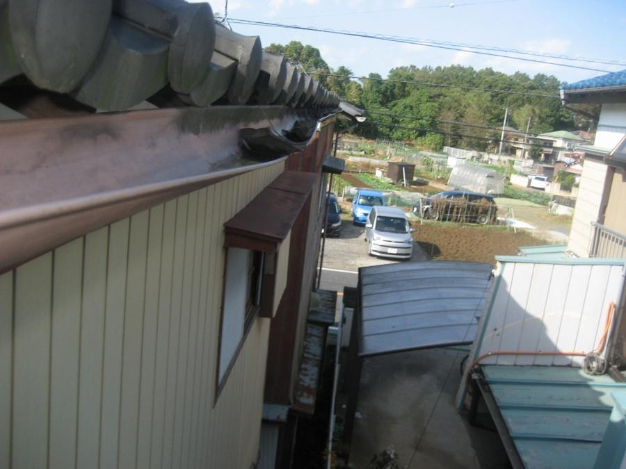 上尾市の雨樋の写真
