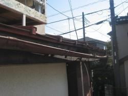 上尾市で雨樋交換工事