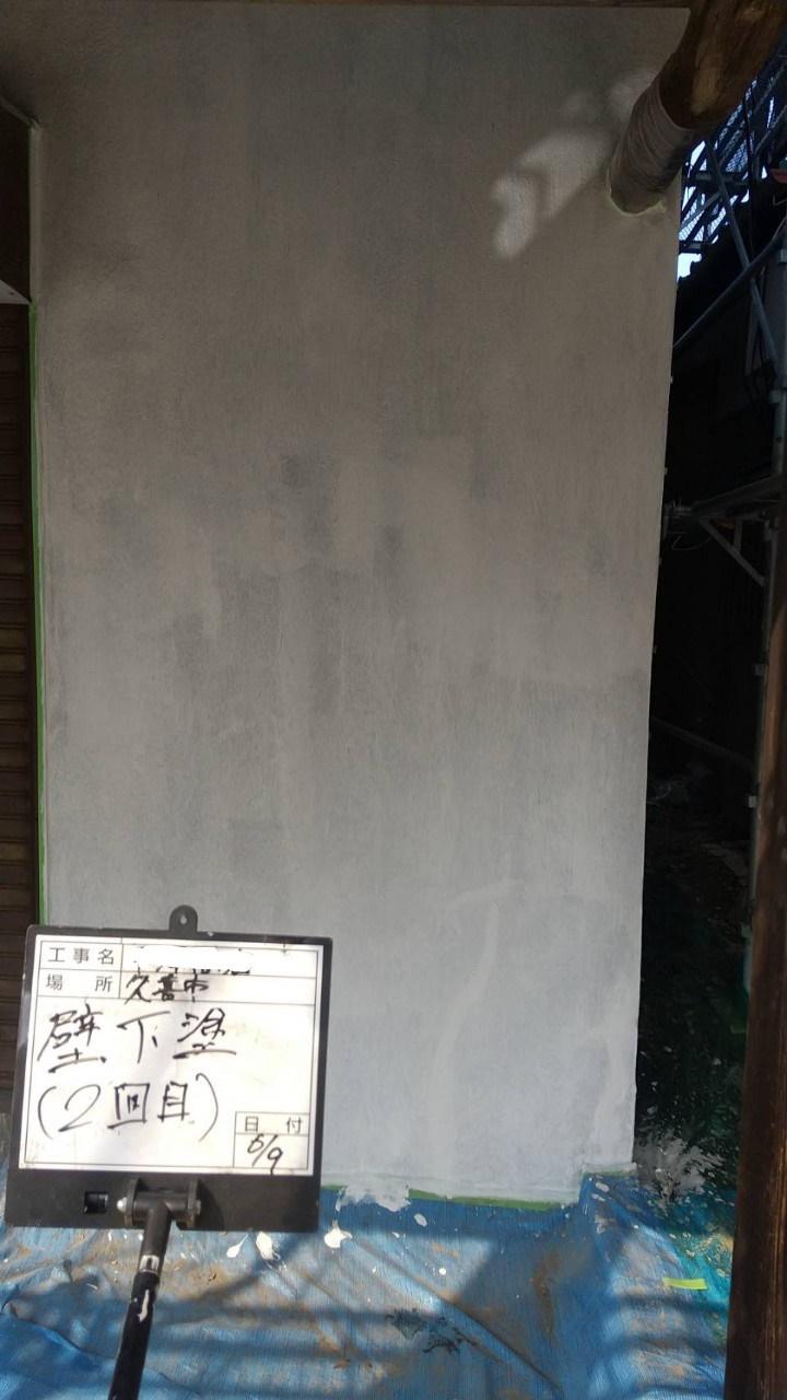 壁下塗り2回目