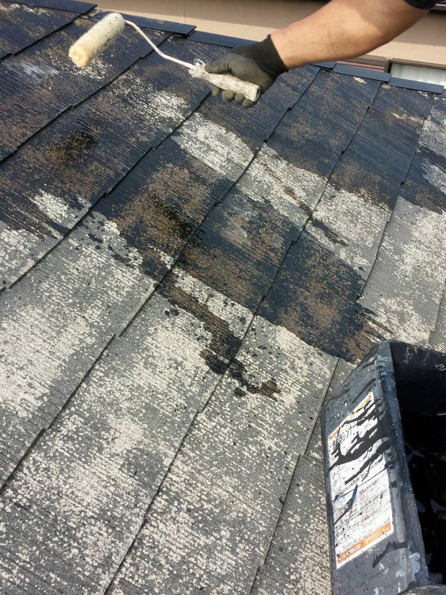 北区 屋根下塗り 写真