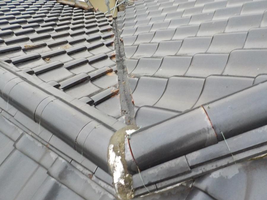 屋根瓦葺き替え工事後