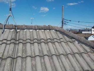 上尾市で屋根瓦の積み直し工事の施工事例