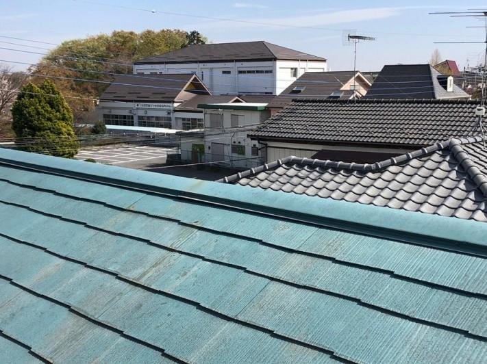 上尾市のスレート屋根写真