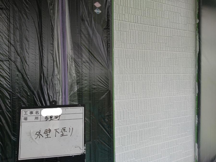 外壁 下塗り 写真