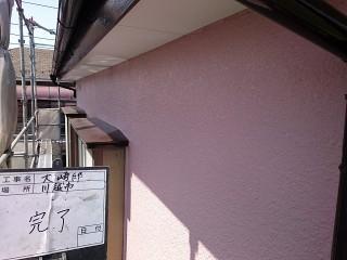 川越市で外壁の施工後