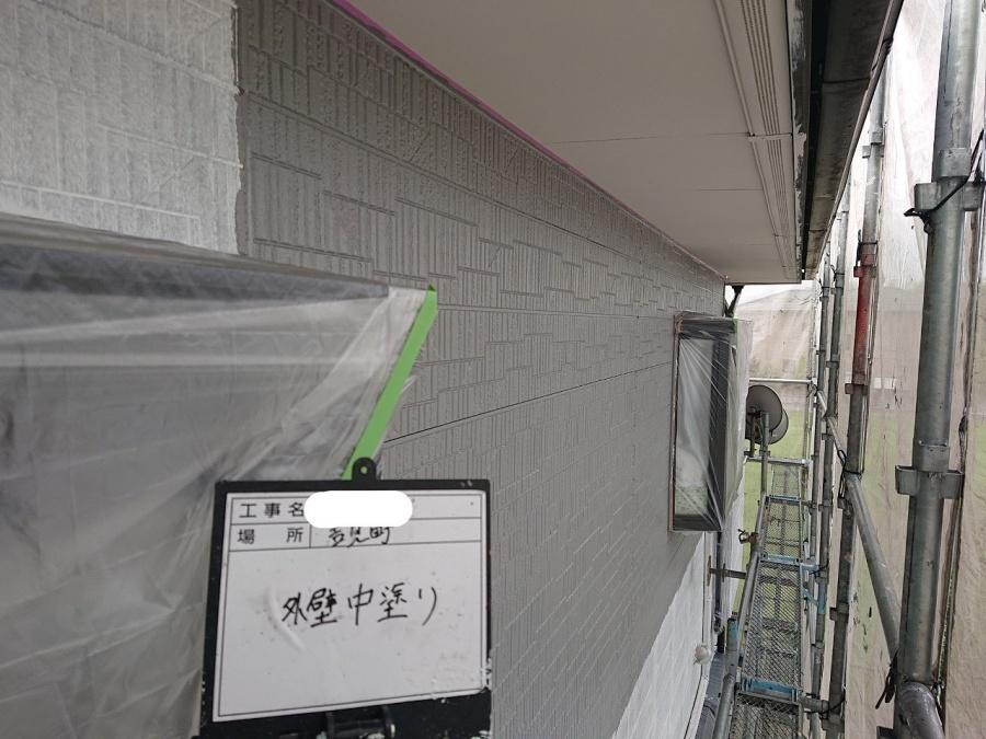外壁 中塗り 写真